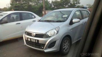 Perodua Axia spied in Mumbai undisguised