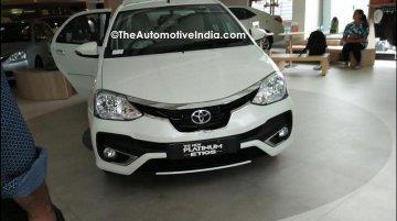 Toyota Etios facelift (Toyota Etios Platinum) arrives at Indian dealership
