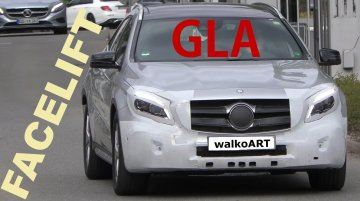 2017 Mercedes GLA (facelift) with new LED tail lamps spied - Video