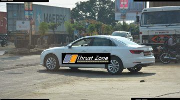 2017 Audi A4 35 TDI (diesel) spotted testing in India