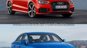 Audi RS3 sedan vs. Audi A3 sedan - In Images