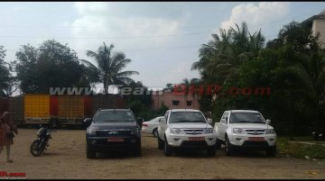 Tata Xenon facelift with automatic transmission spied in India