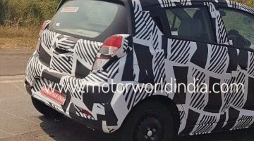 2017 Chevrolet Beat rear spied up close, taillamps revealed