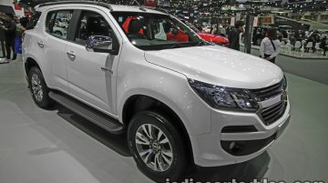 India-bound New Chevrolet Trailblazer (facelift) - Thai Motor Expo Live