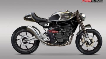 A cafe racer form of the Honda CBR250RR - Rendering