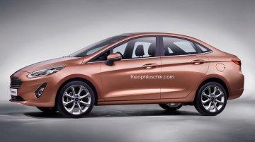 Next gen Ford Fiesta sedan - Rendering