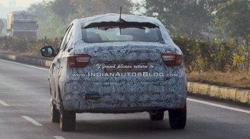 Tata Kite 5 sedan spied testing near Pune