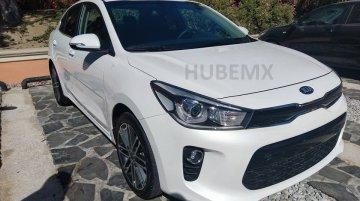 Global-spec 2017 Kia Rio Sedan spied undisguised in Mexico