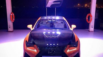 Lexus RC-F showcased in India at a dealer event