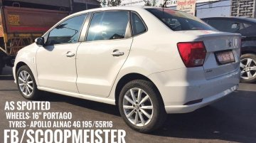 VW Ameo with 16-inch 'Portago' alloy wheels spied