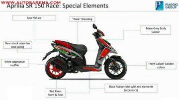 Aprilia SR 150 Race Edition brochure leaks out