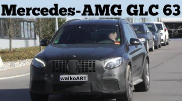 Mercedes-AMG GLC 63 spied on test - Video