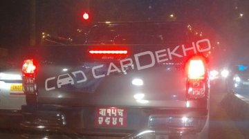 Toyota Hilux (Fortuner-based pick-up) spotted on Indian roads