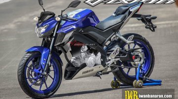Next-gen 2017 Yamaha V-Ixion rendered with FZ25 like tank extension