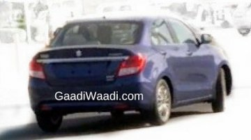 2017 Maruti Swift Dzire (3rd gen) spied undisguised for the first time