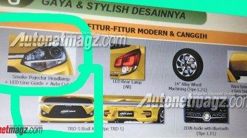 2017 Toyota Agya (facelift) leaked online