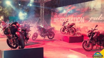 2017 Bajaj Pulsar range showcased at Festival of Speed Hyderabad