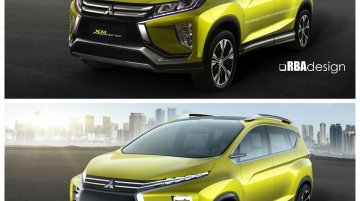 Production Mitsubishi XM MPV rendered