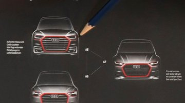 Front fascia of the next-gen Audi A6, Audi A7 & Audi A8 revealed?