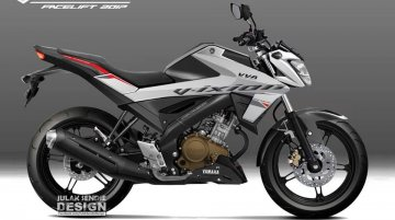 2017 Yamaha V-Ixion rendered with graphics ahead of launch