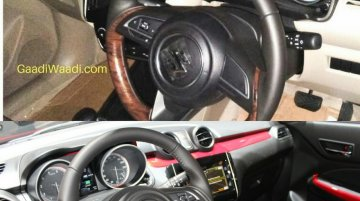 2017 Maruti Swift Dzire gets a subtly different interior from the new Maruti Swift