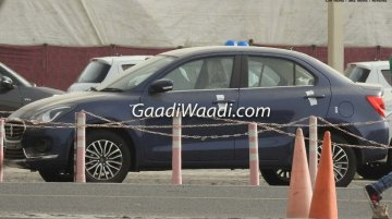 2017 Maruti Dzire spotted in blue, pearl white and dark red colours