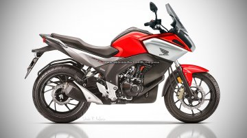 Faired Honda CB Hornet 160 - Rendering