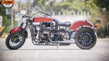 Puneite builds custom motorcycle using Maruti 800 parts