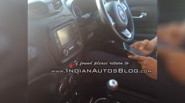 RHD Jeep Renegade Indian test vehicle interior spied