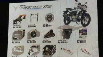2017 Yamaha V-Ixion accessories list released