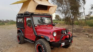Custom Mahindra Thar complete with a roof-top tent - In Images