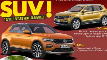 VW T-ROC & VW T-Cross rendered by French media