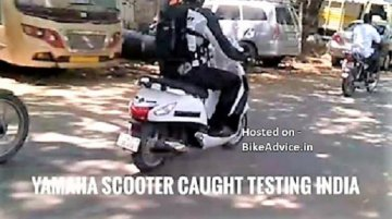 Upcoming Yamaha scooter spotted for first time in Chennai
