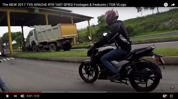 TVS Apache RTR 160 facelift spotted for first time [Video]