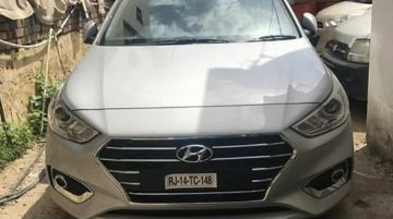 Hyundai Verna 2017 spotted in the Sleek Silver body colour