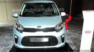 2017 Kia Picanto spotted at Kia's Indian dealer roadshow program