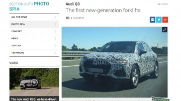 2018 Audi Q3 spied on test up close
