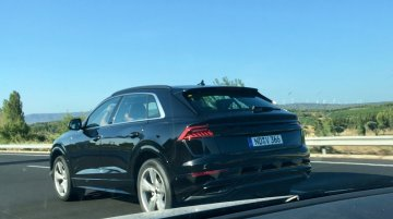 Audi Q8 spied testing with production-spec exterior