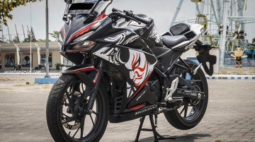 Honda CB150R StreetFire modified into Honda CBR250RR Kabuki Edition