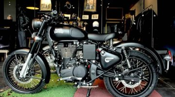 Royal Enfield Classic 500 Stealth Black - In Images