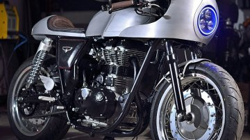 Royal Enfield Continental GT 'Silver Bullet' by White Collar Bike