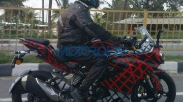 TVS Akula 310 (TVS Apache RR 310S) spied with rear tyre hugger