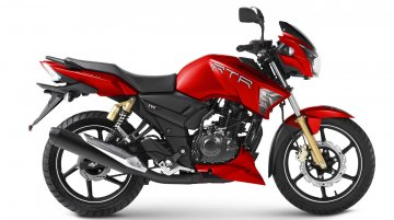 TVS Apache RTR 160 & 180 Matte Red variant launched