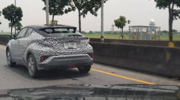 Toyota C-HR spied testing in Thailand again