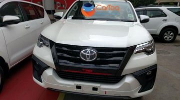 Toyota Fortuner TRD Sportivo spotted at a dealer in India
