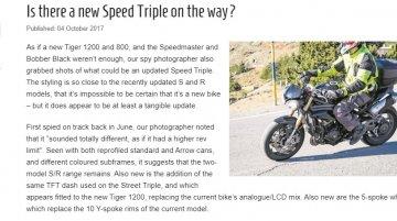 2018 Triumph Speed Triple spotted with redesigned exhaust & wheels