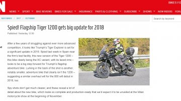 2018 Triumph Tiger Explorer Spied