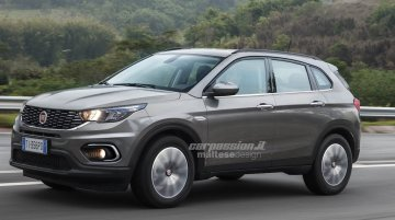 Italian media renders the Fiat C-SUV (Jeep Compass rival)