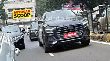 Audi Q8 reaches India for testing, on sale in Europe next year [Update]