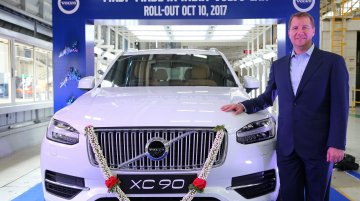 India-assembled Volvo XC90 rolls out from Bengaluru plant